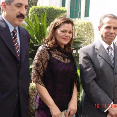 Con el Gobernador del Cairo en Egipto